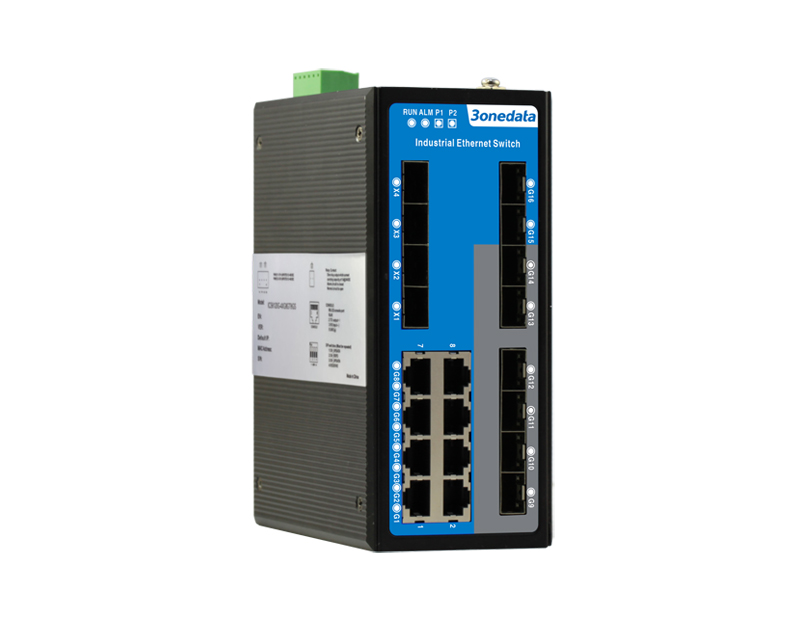 20-port Gigabit/10 Gigabit Layer 3 Managed Industrial Ethernet Switch