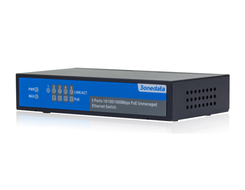 5-port Full Gigabit Layer 2 Unmanaged PoE Switch