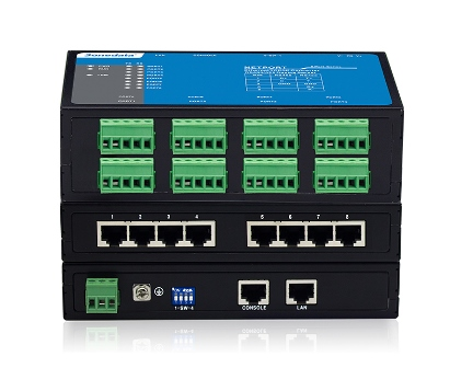 8-port RS-232/485/422 Serial Device Server